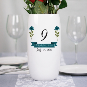 Personalized Wedding Flower Table Number Vase