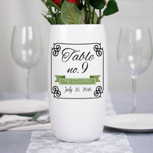 Ceramic Wedding Table Number Flower Vase