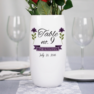 Wedding Flower Table Number Vase