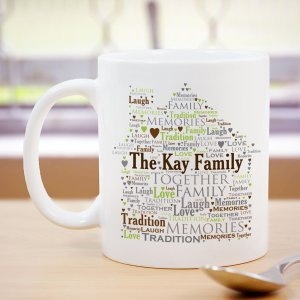 Welcome Home Word-Art Coffee Mug