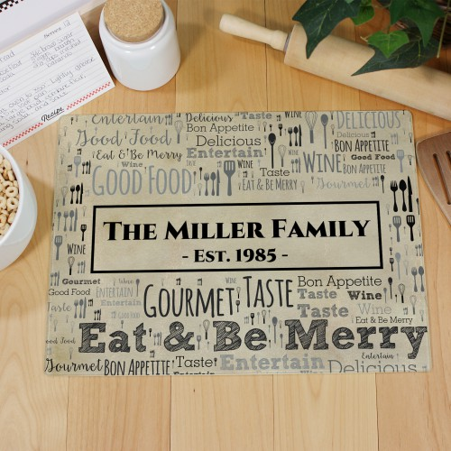 Word-Art Glass Cutting Board | Personalized Cutting Boards