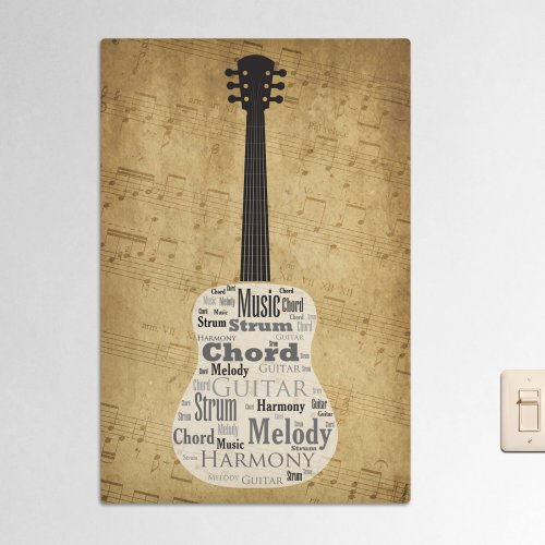 Acoustic Guitar Word-Art | Personalized Word Art