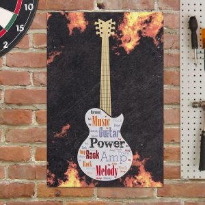 Electric Guitar Word-Art Wall Sign