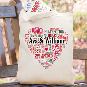 Couples Love Word-Art Tote Bag