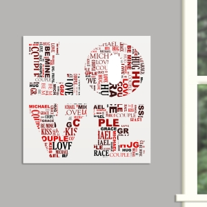 LOVE Word-Art Canvas