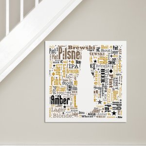 Beer Word-Art Canvas | Canvas Prints