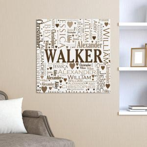 Family Word-Art Canvas