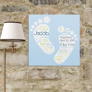 Baby Boy Word-Art Canvas