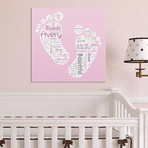 Baby Girl Word-Art Canvas