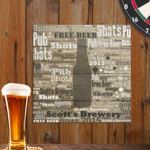 Beer Word-Art Canvas