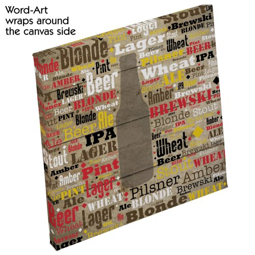 Beer Word-Art Canvas | Mancave Gifts