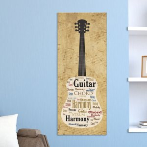 Acoustic Guitar Word-Art Canvas
