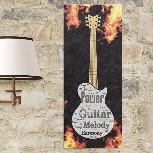 Electric Guitar Word-Art | Personalized Word Art