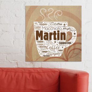 Coffee Word-Art Canvas