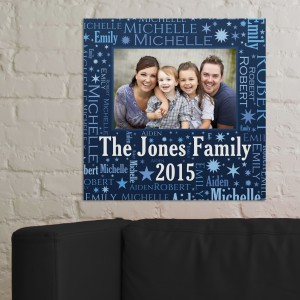 Photo Word-Art Wall Canvas | Housewarming Gift Ideas
