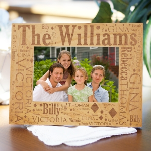 Family Pride Word-Art Wood Picture Frame