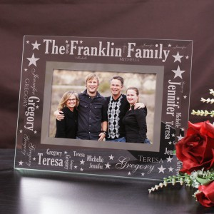 Family Pride Word-Art Glass Frame