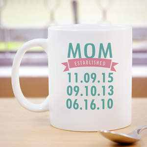 Personalized Mom Established Mug