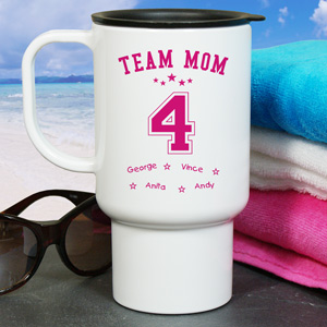 Personalized Team Mom Travel Mug | Mothers Day Mugs