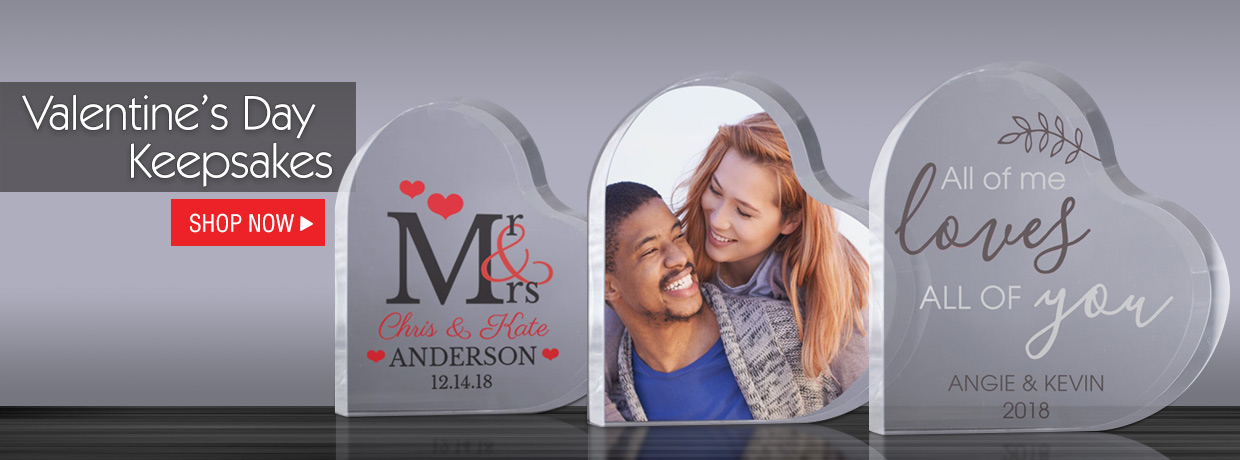 Personalized Valentine's Day Keepsakes and Home Decor