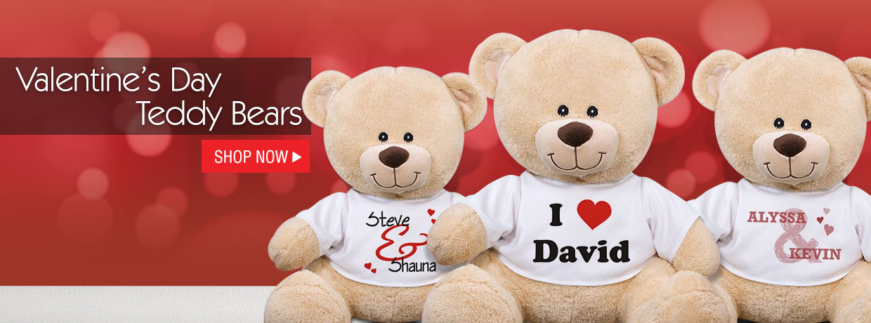 Personalized Teddy Bears and Plush for Valentine's Day