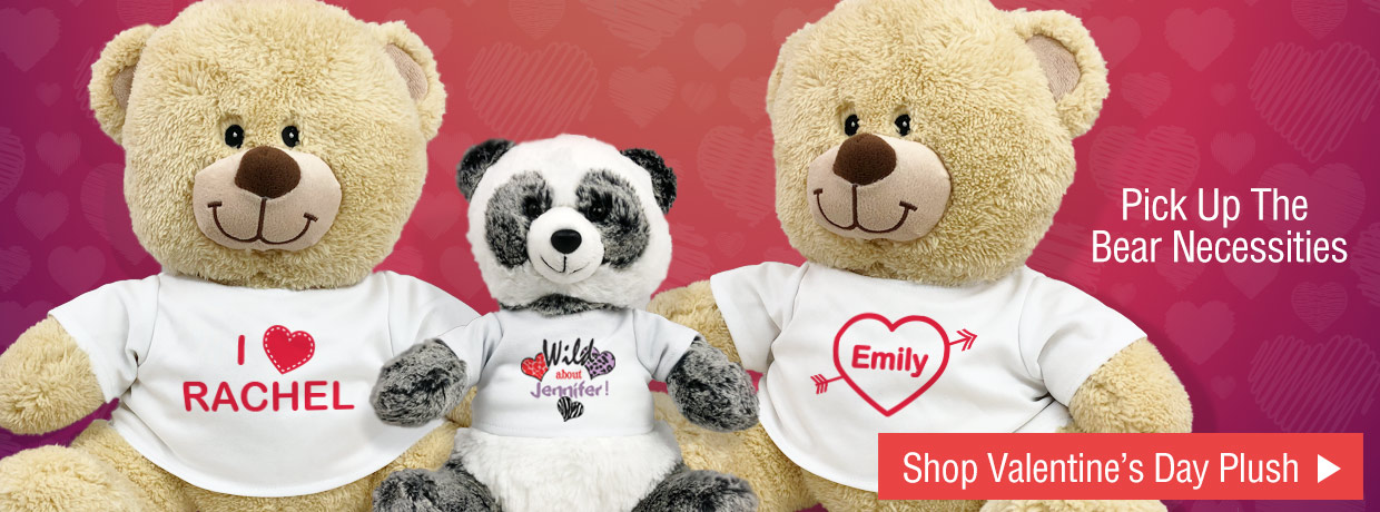 Personalized Valentine's Day Bears and Animals