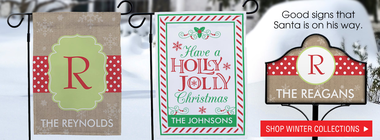 All new personalized Christmas and Holiday Collections