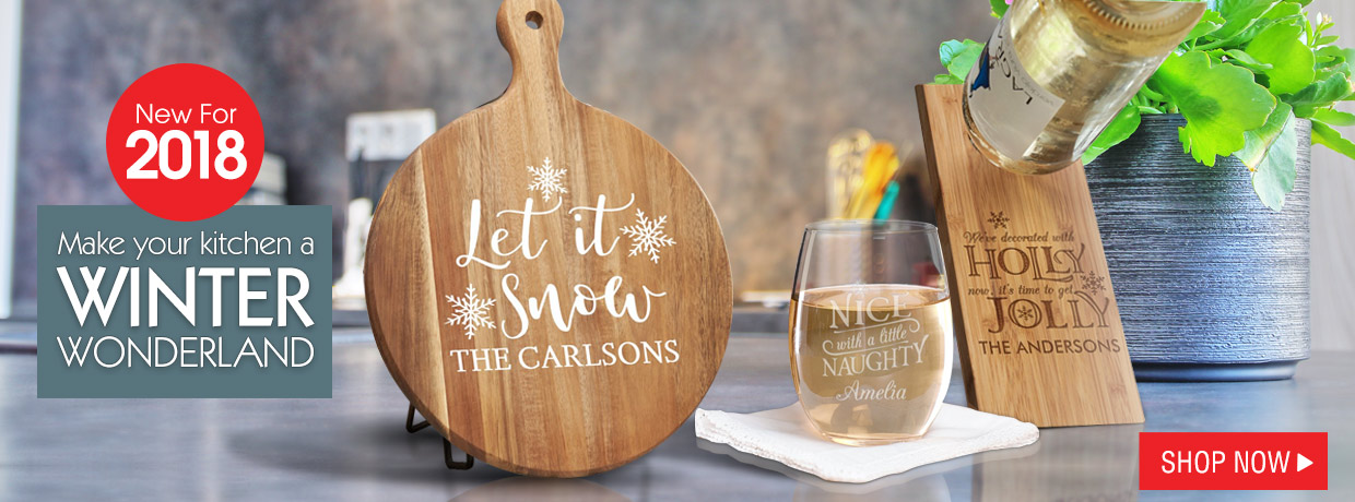 Personalized Home Decor Gifts for a great Christmas in the Kitchen and home