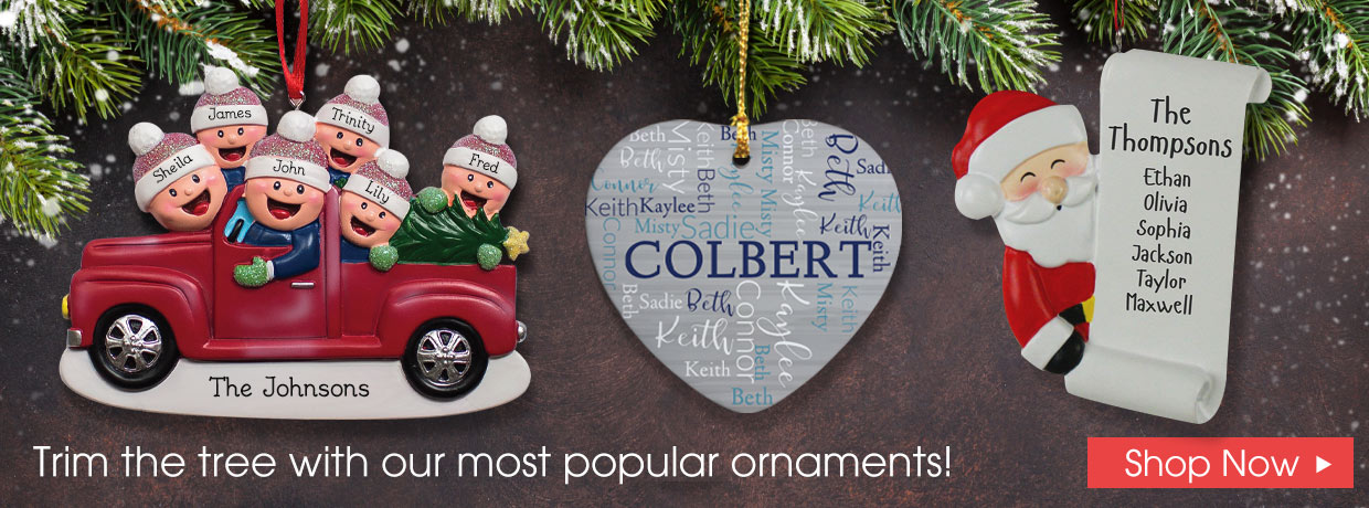 Shop Personalized New Christmas Ornaments