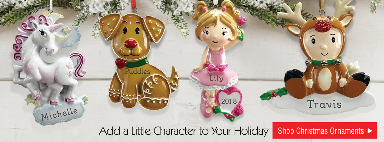 All New Personalized Character Ornaments