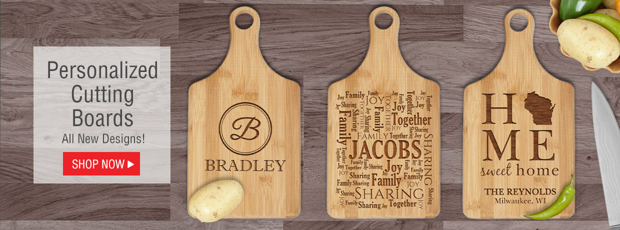 All New Personalized Cutting Boards