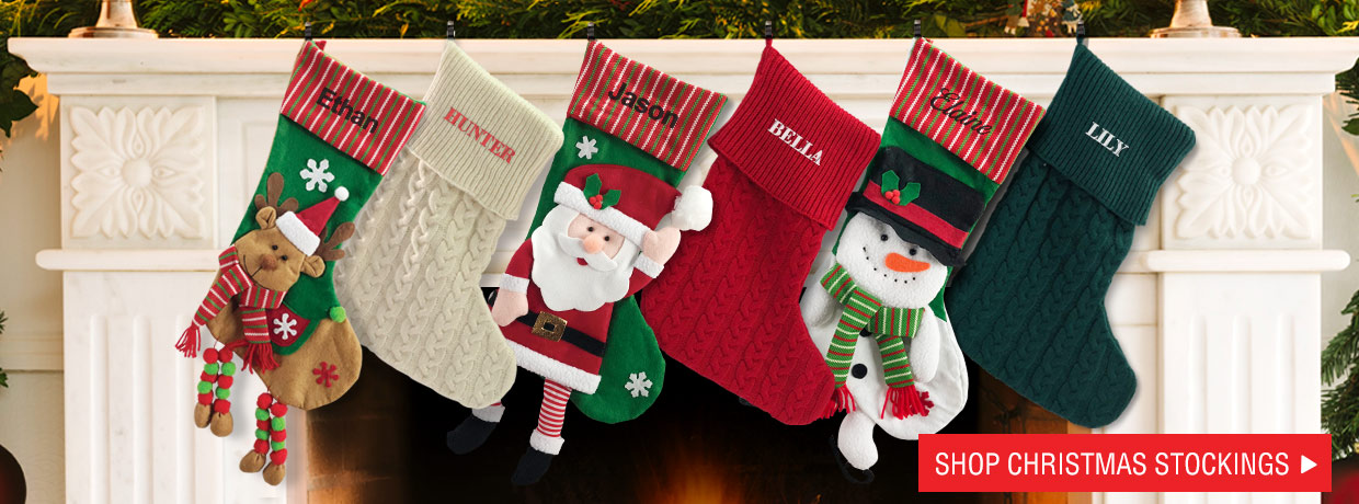 Exclusive Designs for our personalized Christmas stockings