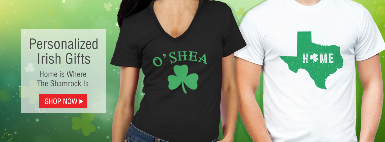 Celebrate Irish Heritage and St. Patrick's Day with Personalized Gifts