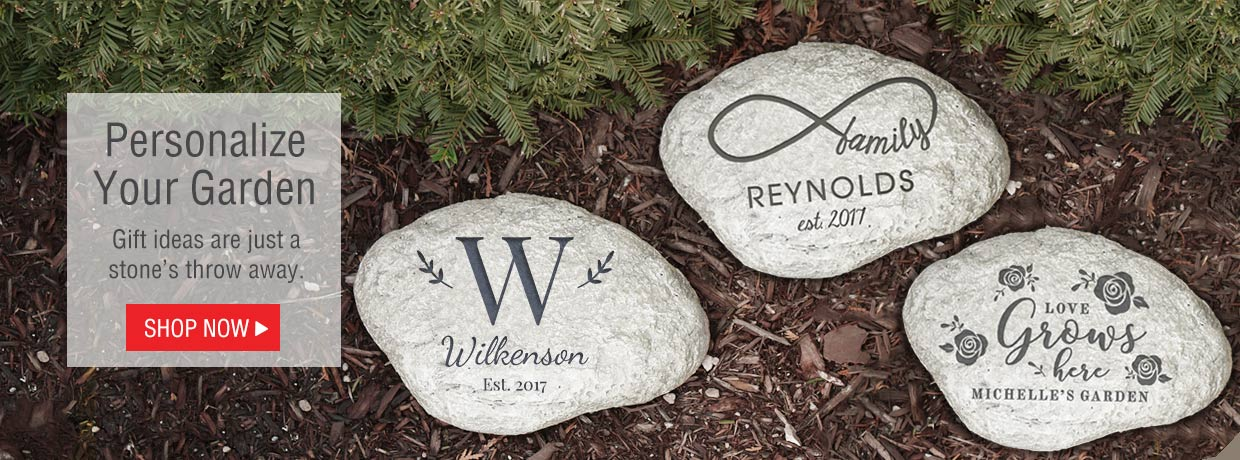 All New Personalized Gifts including Garden Stones