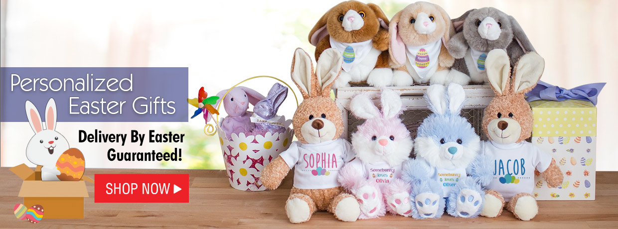 Easter Preview with Easter Baskets, Plush Bunnies and more!