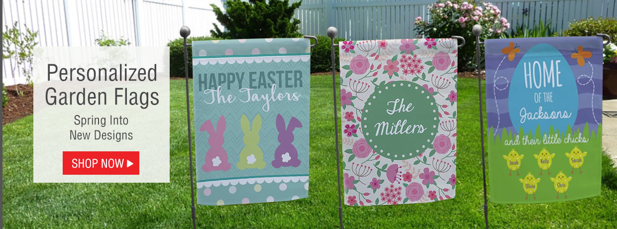 Personalized Easter Garden Flags and Decor