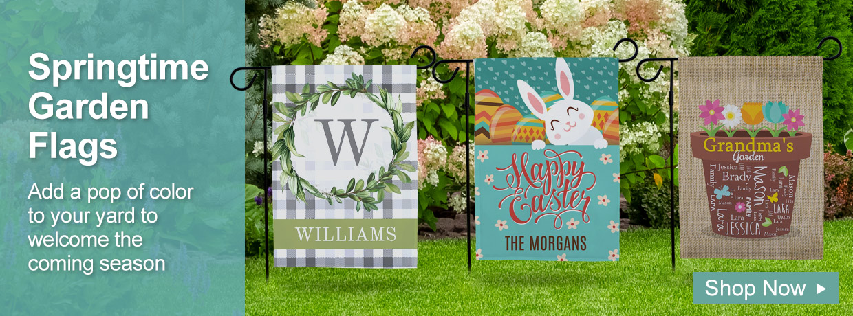 Personalized Garden Flags for Springtime