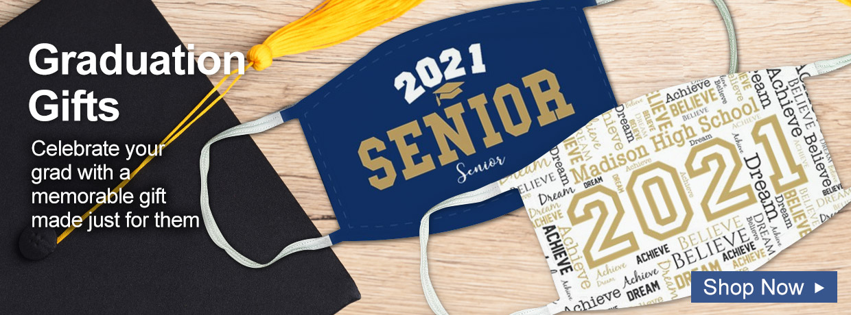 Personalized Graduation Gifts and Face Masks
