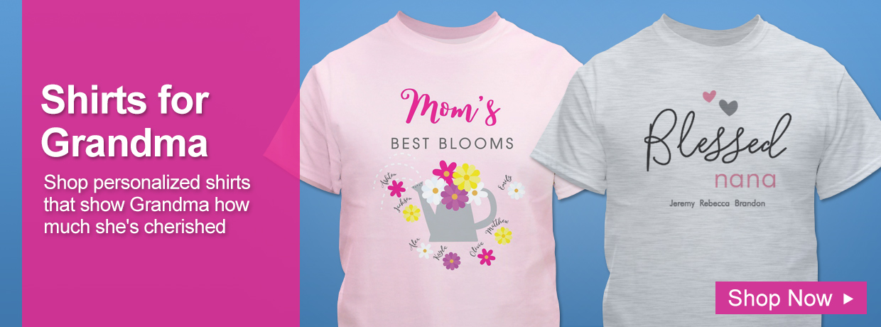 Personalized Mother's Day Shirts and Apparel