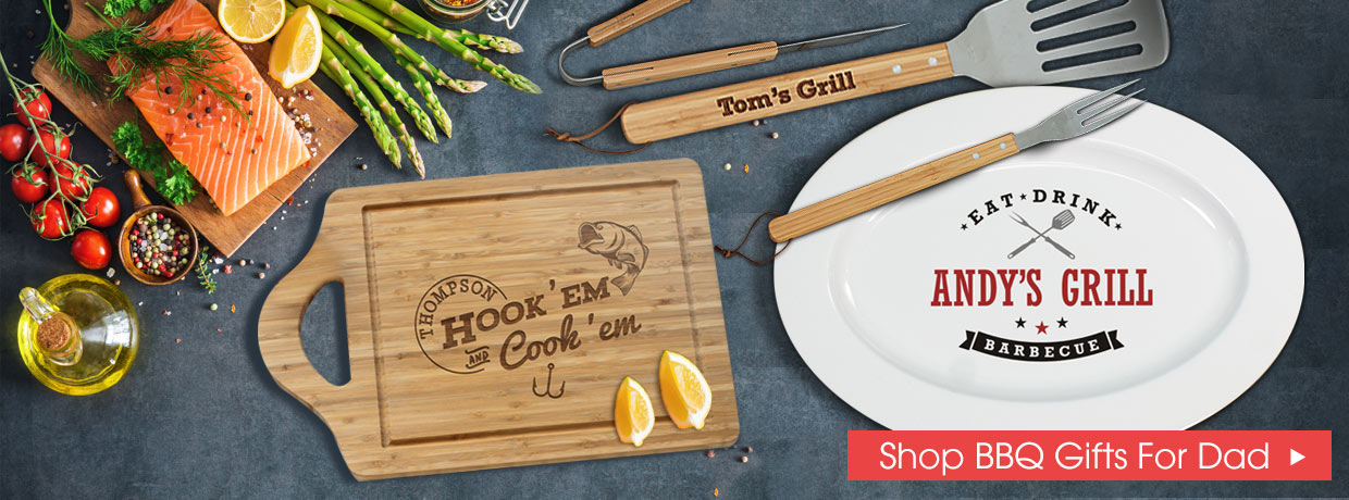 Shop Personalized Father's Day BBQ Gifts