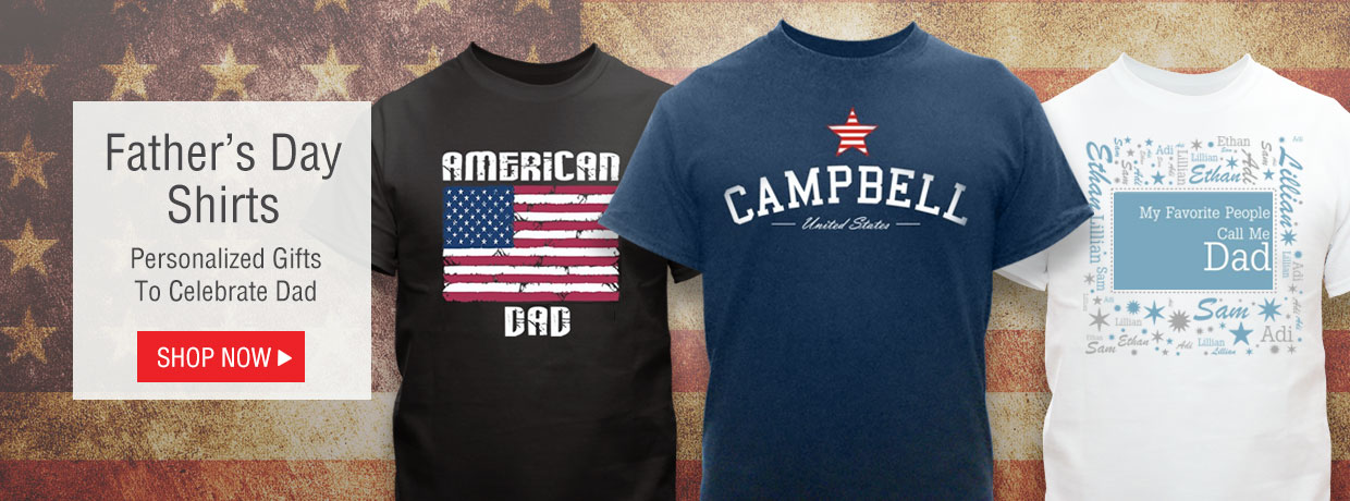 Personalized Father's Day shirts for Dad, Grandpa, and more!