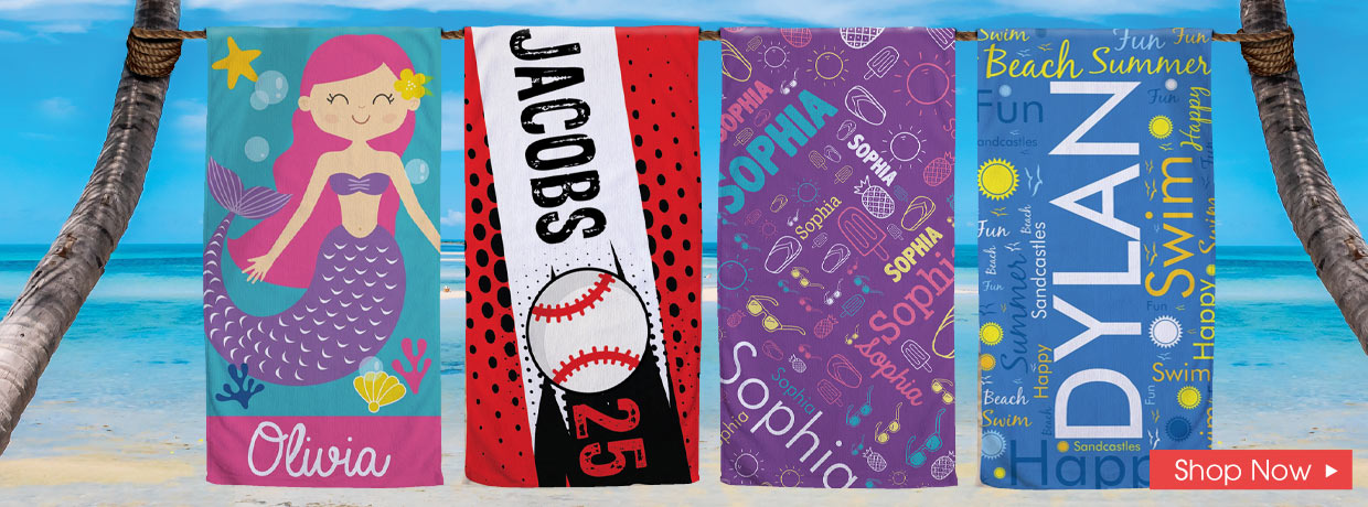 Personalized Beach Towels and Summer Fun Gifts