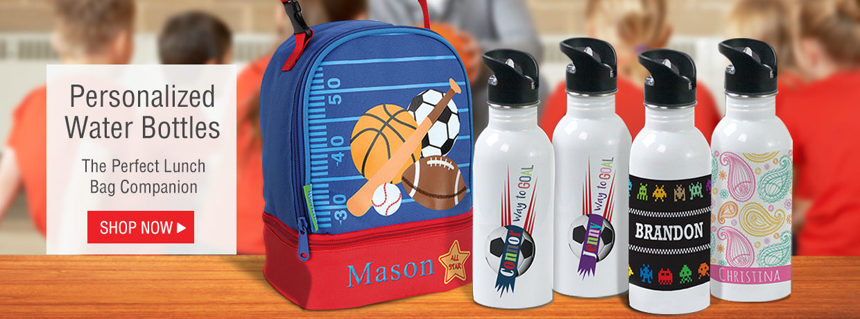 All new personalized school supplies with pencil cases, spirals, notebooks, stickers, and more!