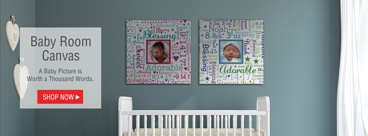Personalized Baby Gifts for Newborns, with Blankets, Canvas, plush and more!