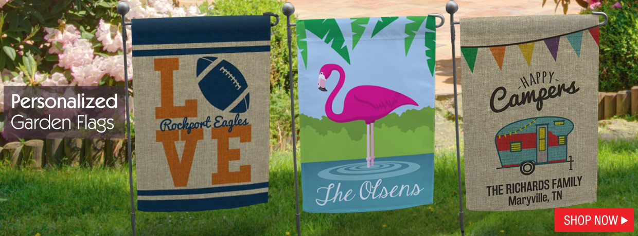 Personalized Garden Flags for Summer and Graduation