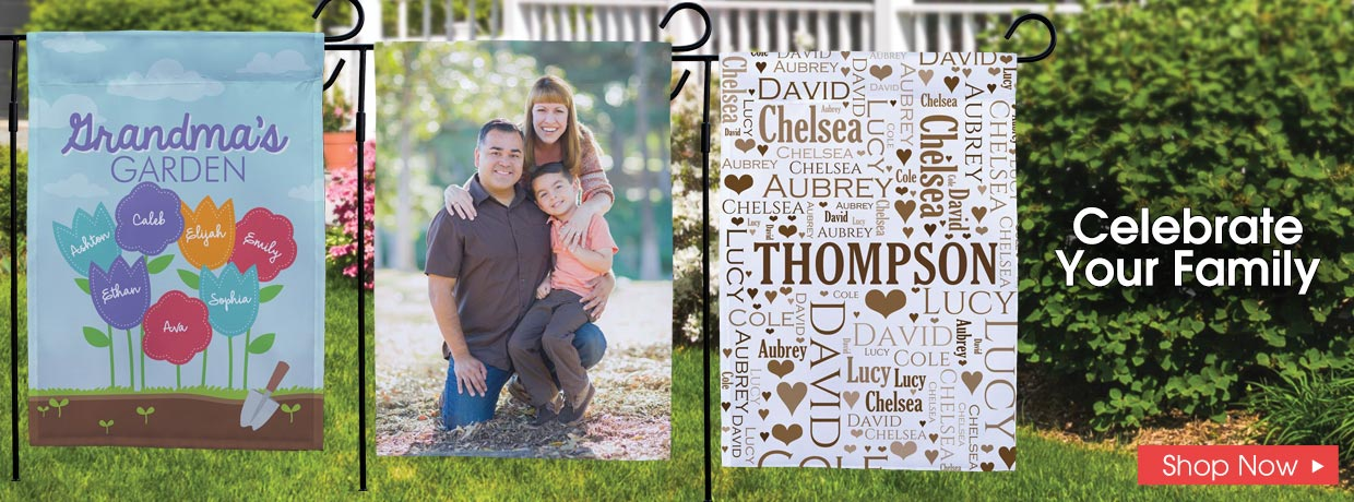 Shop Personalized Garden Flags