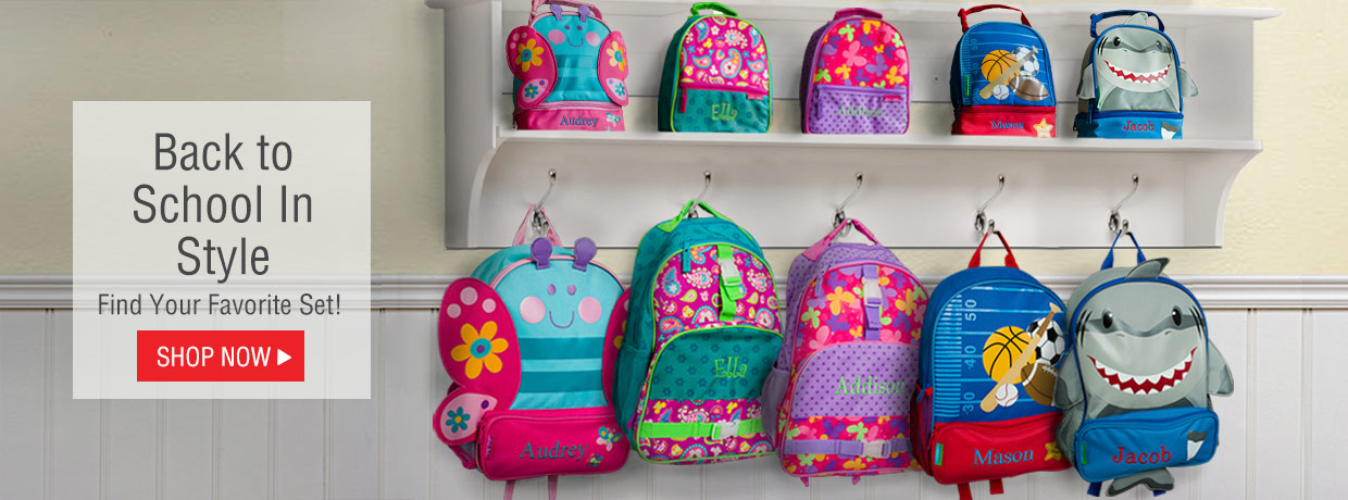 Personalized school backpacks, lunch bags, and more!