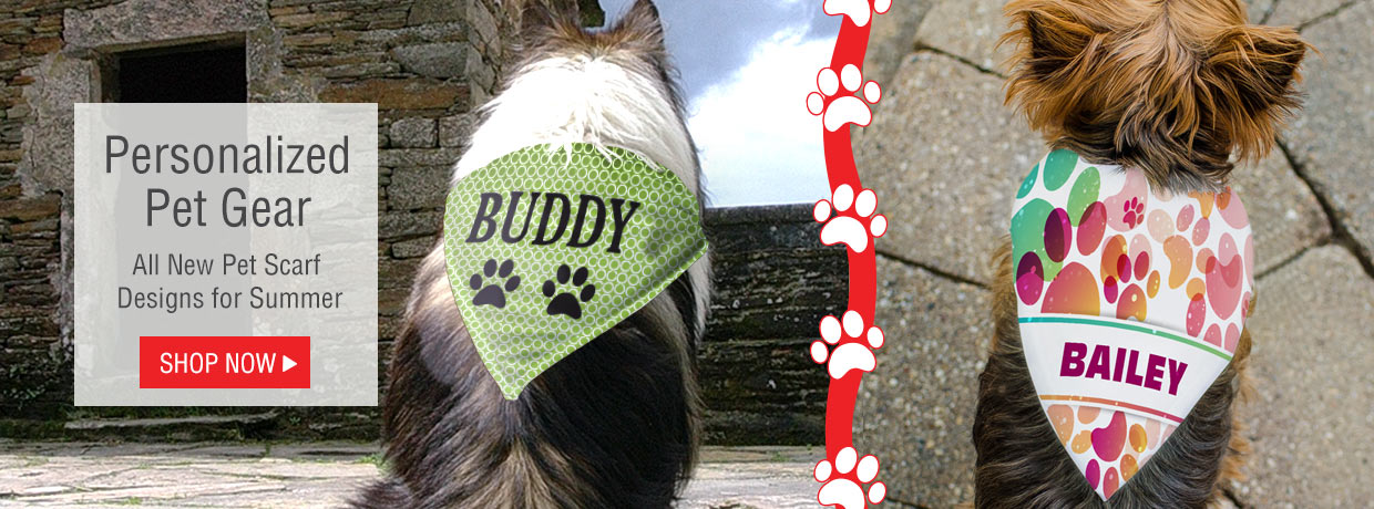 All New Personalized Pet Scarves and Accessories