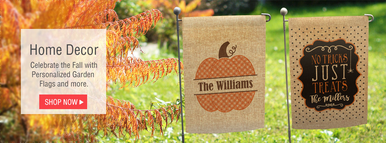 Welcome Fall with Personalized Garden Flags, Blankets, Afghans, Slates, and Sherpa Blankets