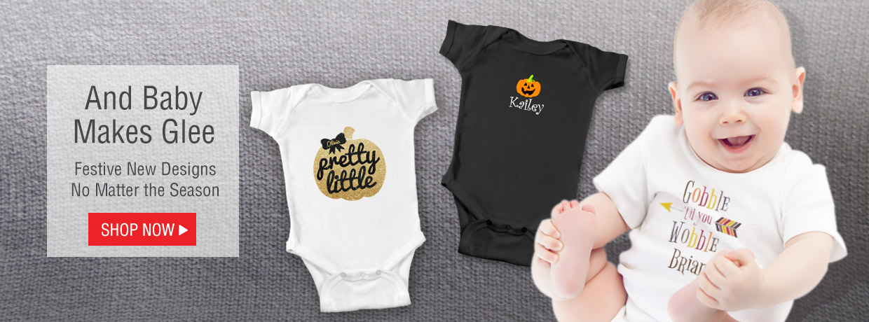 Personalized Gifts for Babies and Kids, like Creepers, Shirts, Plush, and Teddy Bears